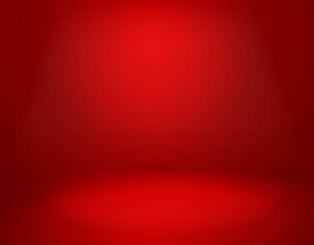 Ilustração de fundo vermelho do estúdio