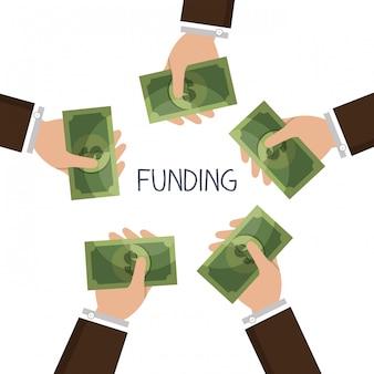 Ilustração de fundos econômicos