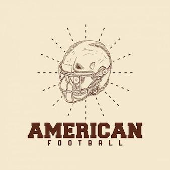 Ilustração, de, futebol americano, logotipo
