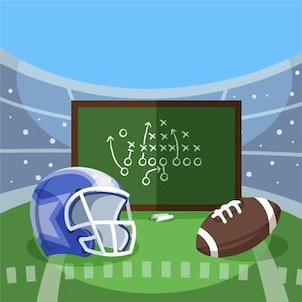 Ilustração de futebol americano
