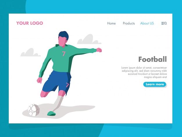 Ilustração de futebol para a página de destino