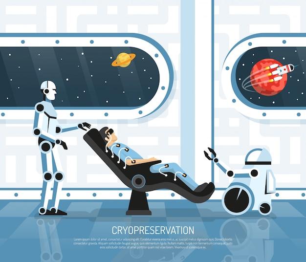 Ilustração de futurologia de turismo espacial