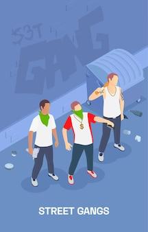 Ilustração de gangue de rua