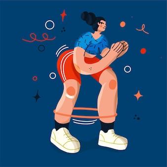 Ilustração de garota do esporte