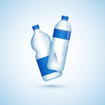 Ilustração, de, garrafas plásticas