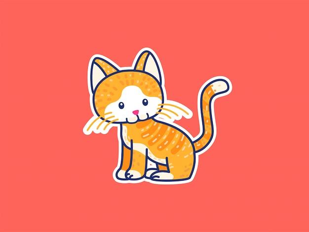 Ilustração de gato bonito dos desenhos animados