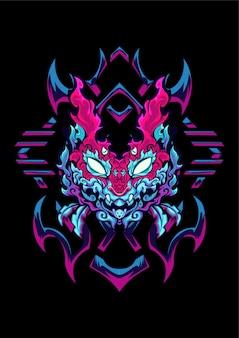 Ilustração de gato demônio