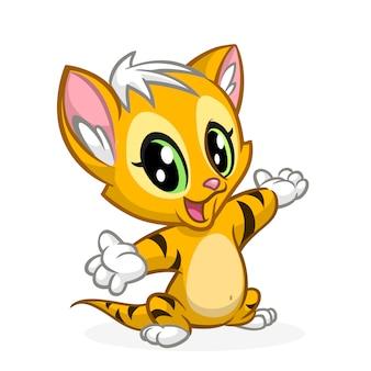 Ilustração de gato engraçado dos desenhos animados