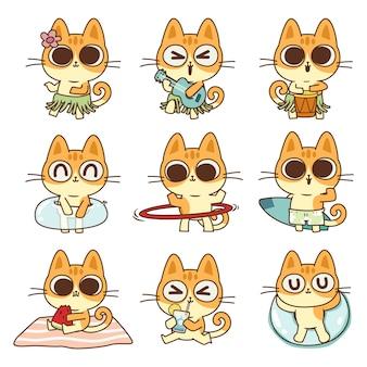 Ilustração de gato fofa