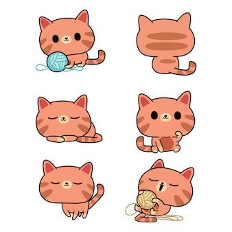 Ilustração de gato kawaii