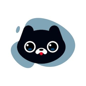 Ilustração de gato preto fofo