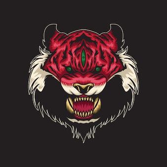 Ilustração de gato selvagem
