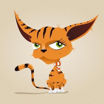 Ilustração de gato vermelho