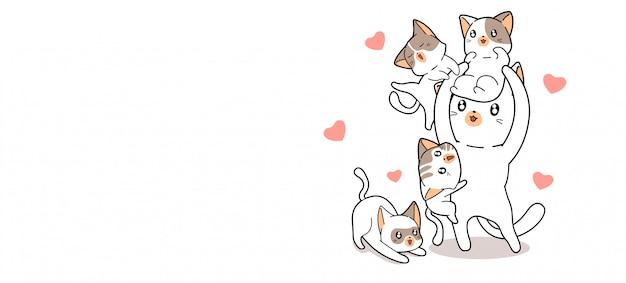 Ilustração de gatos adoráveis