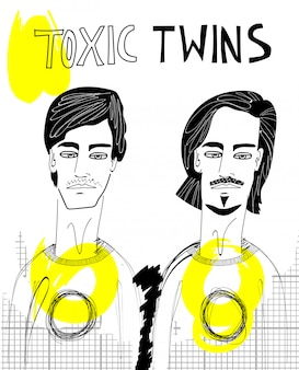 Ilustração de gêmeos tóxicos