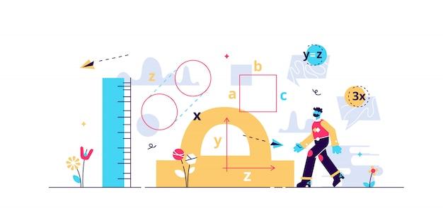 Ilustração de geometria.