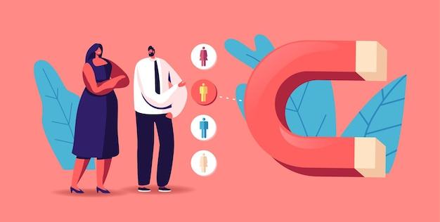 Ilustração de geração de leads