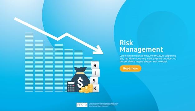 Ilustração de gerenciamento de riscos