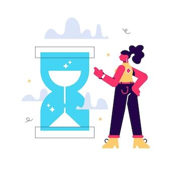 Ilustração de gerenciamento de tempo