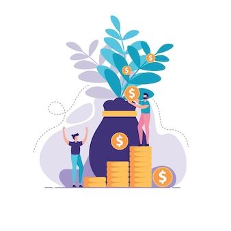 Ilustração de gestão de investimentos
