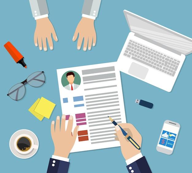 Ilustração de gestão de recursos humanos
