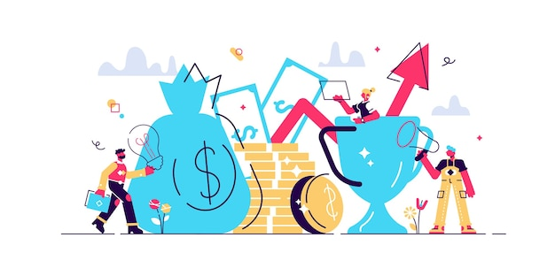 Ilustração de gestão inteligente de investimentos