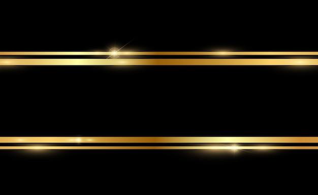 Ilustração de glitter dourado com moldura de ouro brilhante