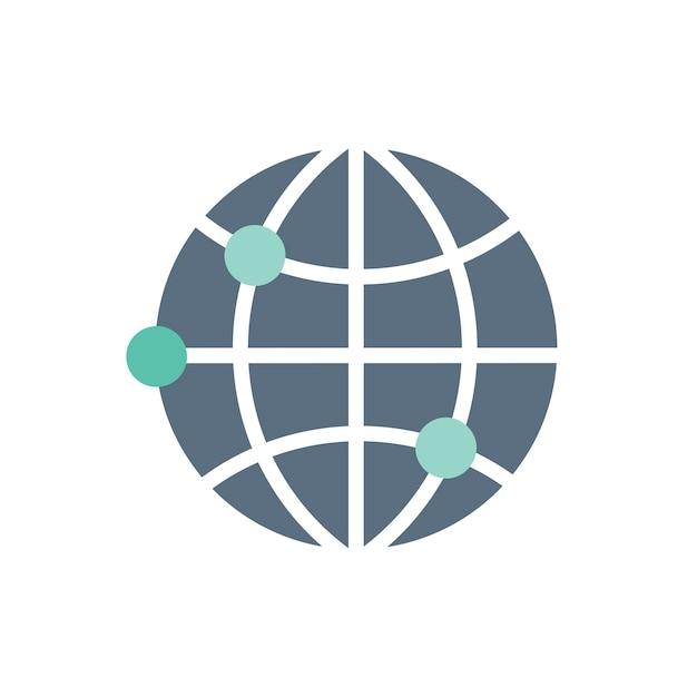Ilustração, de, global, ícone