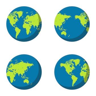 Ilustração de globo terra isolada