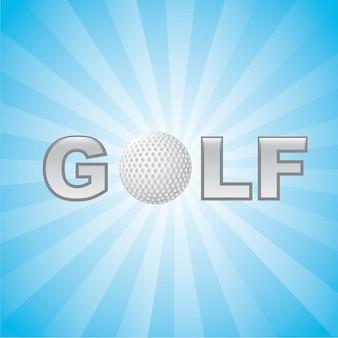 Ilustração de golfe com ilustração em vetor fundo bola
