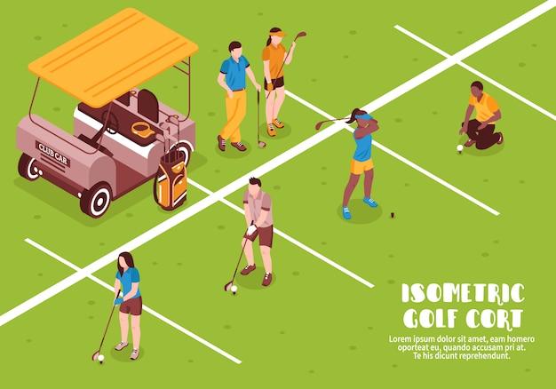 Ilustração de golfe