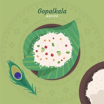 Ilustração de gopalkala desenhada à mão