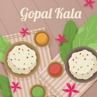 Ilustração de gopalkala plana