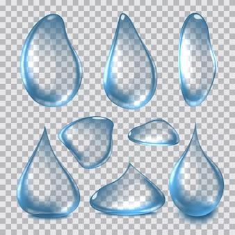 Ilustração de gotas de água realista clara pura