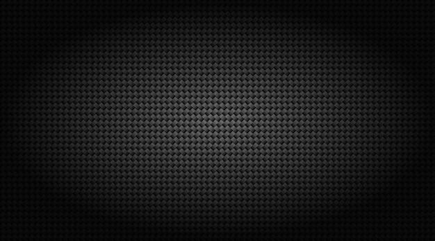 Ilustração de grade de fibra de carbono em preto escuro