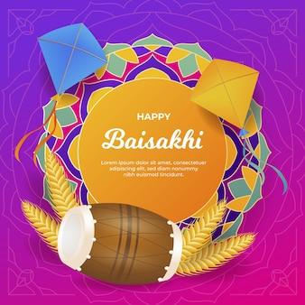 Ilustração de gradiente baisakhi