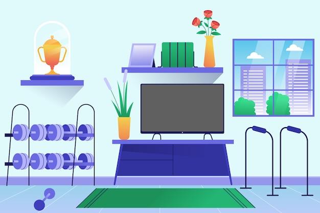 Ilustração de gradiente de ginástica doméstica