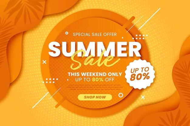 Ilustração de gradiente de venda de verão
