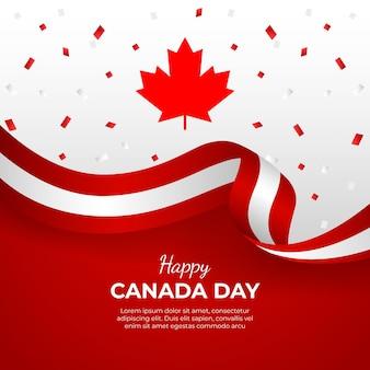 Ilustração de gradiente do dia canadense