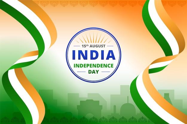 Ilustração de gradiente do dia da independência da índia