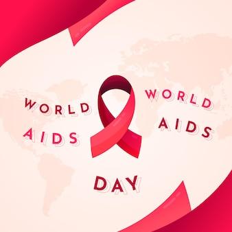 Ilustração de gradiente do dia mundial da aids