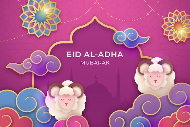 Ilustração de gradiente eid al-adha