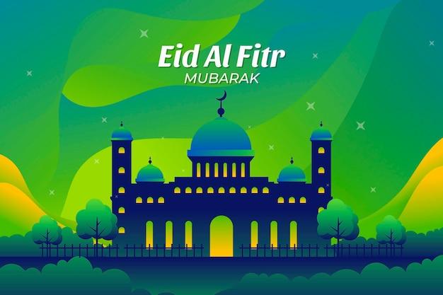 Ilustração de gradiente eid al-fitr