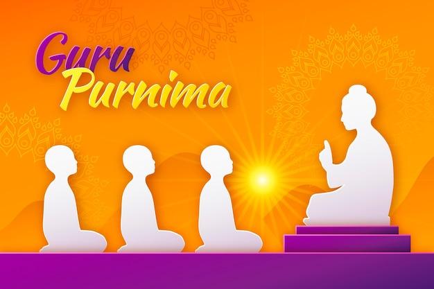 Ilustração de gradiente guru purnima
