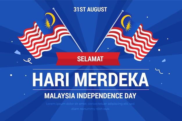 Ilustração de gradiente hari merdeka