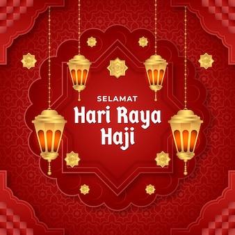 Ilustração de gradiente hari raya haji