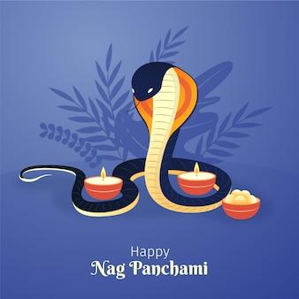Ilustração de gradiente nag panchami