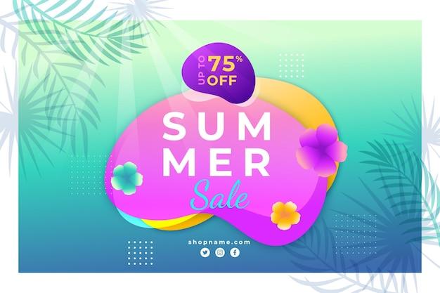 Ilustração de gradiente olá venda de verão