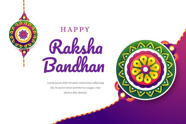 Ilustração de gradiente raksha bandhan