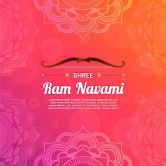 Ilustração de gradiente ram navami
